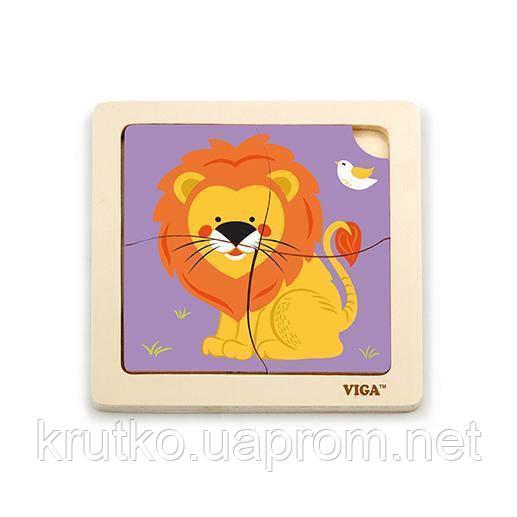"""Пазл Viga Toys """"Лев"""" (51316)"""