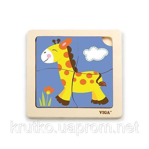 """Пазл Viga Toys """"Жираф"""" (51319)"""