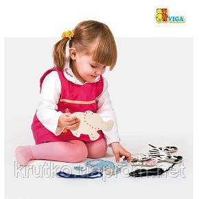 """Шнуровка Viga Toys """"Дикие животные"""" (51326), фото 2"""