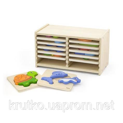 Набор пазлов Viga Toys 12 штук (51423), фото 2
