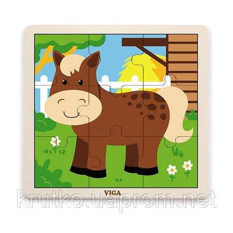 "Пазл Viga Toys ""Лошадь"" (51439), фото 2"