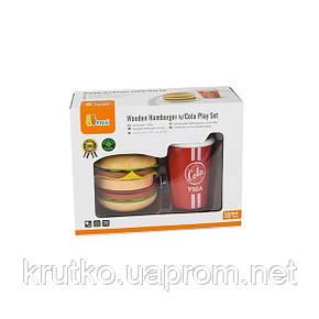 """Игровой набор Viga Toys """"Гамбургер и кола"""" (51602), фото 2"""