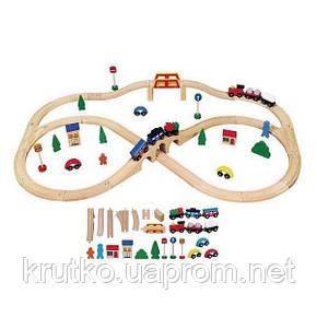 """Игрушка Viga Toys """"Железная дорога"""", 49 деталей (56304), фото 2"""