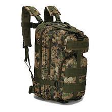 Тактический, походный рюкзак Military. 25 L. Камуфляжный, пиксель, милитари. / T412 Vsem