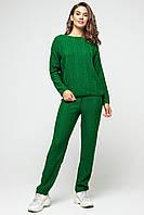 Вязаный женский костюм Лили в зеленом цвете
