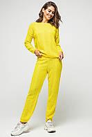 Вязаный женский костюм Лили в желтом цвете