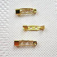 Основа для броши, Япония, 20 мм, золото
