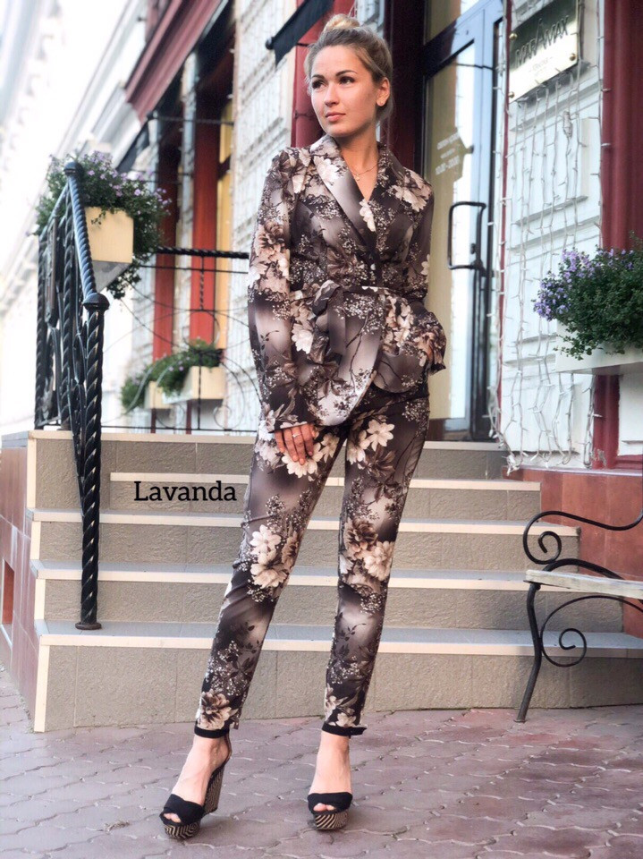 Женский брючный костюм 2 расцветки,женские костюмы