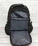 Вместительный рюкзак SwissGear Wenger, свисгир. Черный с синим. + Дождевик. 35L / s8855 blue Vsem, фото 7