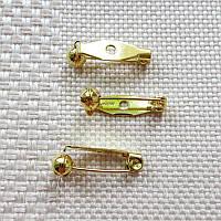 Основа для броши с защитным механизмом, Япония, 20 мм, золото