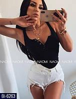 Жіноча футболка чорна забарвлення 4