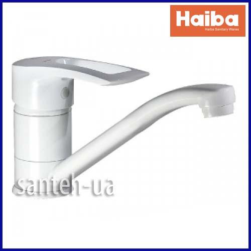 Змішувач для кухні HAIBA HANSBERG 004-15 СМ WHITE HB0189