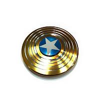 Fidget Spinner!/Спиннер!/Антистресс, алюминий, Капитан Америка, золотой