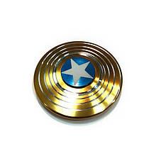 Fidget Spinner!/Спиннер!/Антистрес, алюміній, Капітан Америка, золотий