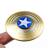 Fidget Spinner!/Спиннер!/Антистресс, алюминий, Капитан Америка, золотой, фото 2
