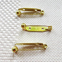 Основа для брошки із захисним механізмом, Японія, 28 мм, золото