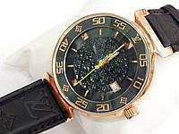 Женские кварцевые наручные часы Louis Vuitton на оригинальном фактурном ремешке, фото 1