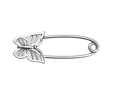 Булавка серебряная Бабочка Бл_90008