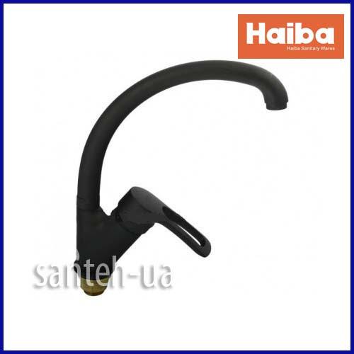 Смеситель для кухни HAIBA HANSBERG 777 ГАЙКА BLACK HB0216