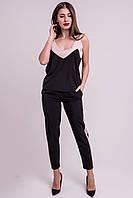 ✔️ Костюм летний брючный Русалия с лампасами 44-48 размеры черный, фото 1
