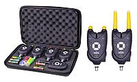 Набор электронных карповых сигнализаторов с пейджером в кейсе 4+1 Shark