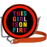 Женская сумка круглая на цепочке Tablet This girl is on fire