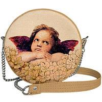 Сумка женская круглая на цепочке Tablet  Ангелочек