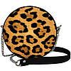 Сумка круглая на цепочке женская Леопард