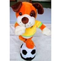 Мягкая игрушка механическая Собака с мячем