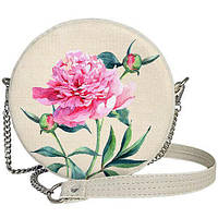 Женская сумка круглая на цепочке Tablet Цветок