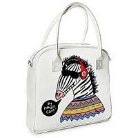 Большая вместительная сумка женская с принтом /Зебра
