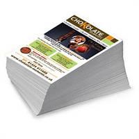 Объявления А5 полноцветные на офсетной бумаге 1 сор. 1000 шт