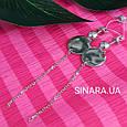 Серьги висюльки Coin - Серьги висячие серебряные минимализм - Длинные серьги цепочки серебро, фото 3