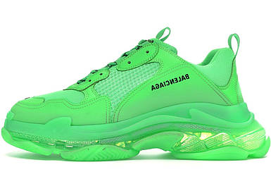 Женские кроссовки Balenciaga Triple S Clear Sole Green