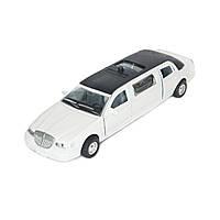 Автомодель Лимузин белый  (свет, звук)   Technopark  SL970WB
