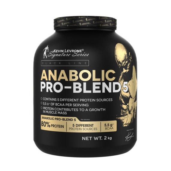 Сывороточный протеин концентрат Kevin Levrone Anabolic Pro-Blend 5 (2 кг) кевин леврон анаболик про бленд  strawberry banana