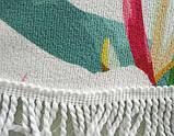 Пляжный коврик Мандала Happy 160см. Микрофибра, фото 3