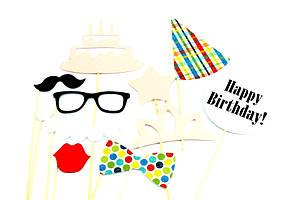 Фотобутафория для веселых фотосессий День Рождения 10 предметов