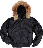 Куртка Alpha Hooded Ma-1 black