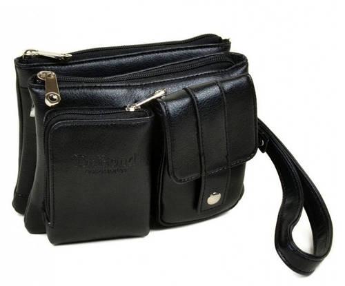 Вместительная мужская сумка-портмоне из искусственной кожи dr.Bond 8801-2 black черный