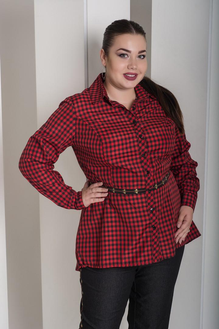 Модная женская классическая рубашка  с 48 по 82 размер