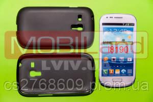 """Чохол силікон """"S""""  Samsung i8190/S3 mini (black)"""