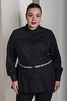 Женская рубашка с асимметричной баской с 48 по 82 размер