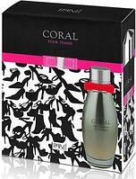 Женская парфюмерный набор  Coral 95ml+Deo 175ml. Prive