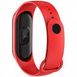 Фитнес браслет M3 в стиле Xiaomi Mi Band 3 (Smart Band) Red Умный браслет Фитнес трекер, фото 2