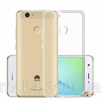 Силиконовый прозрачный чехол бампер накладка для Huawei (Хуавей) Nova
