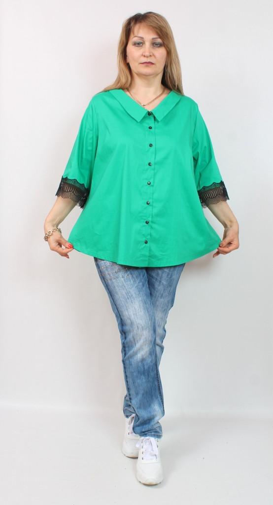 Турецкая женская офисная блузка больших размеров 54-64