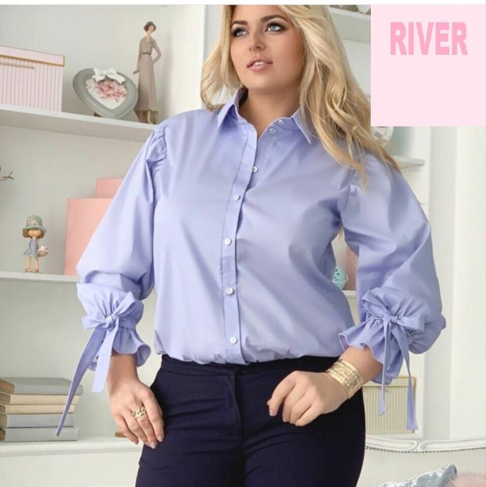 Элегантная женская рубашка батал с 48 по 82 размер