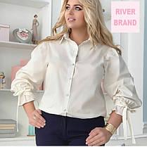 Элегантная женская рубашка батал с 48 по 82 размер, фото 2