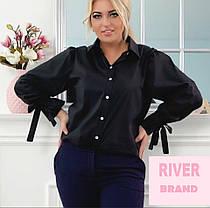 Элегантная женская рубашка батал с 48 по 82 размер, фото 3